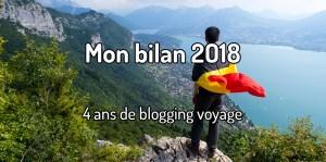 Bilan 2018 - Blogging voyage 4 ans
