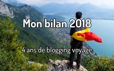 Mon bilan 2018 – 4 ans de blogging voyage
