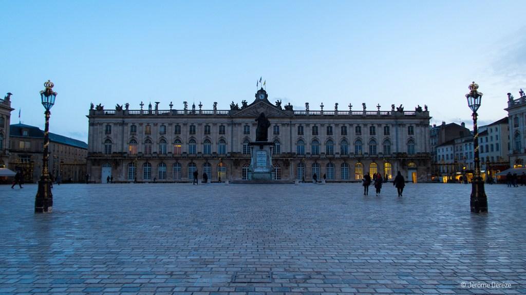 Place Stanislas de Nancy le soir