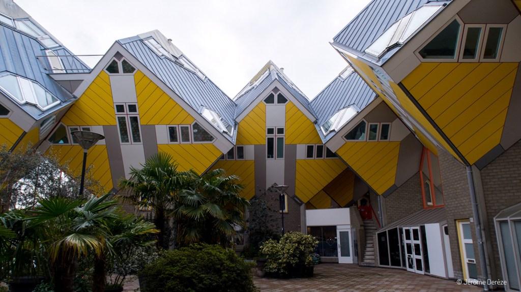 maisons cubiques à Rotterdam