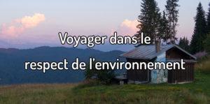Voyager dans le respect de l'environnement