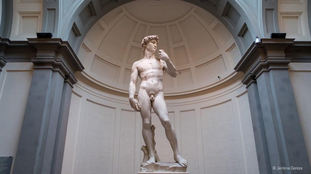 David de Michel-ange à la Galleria dell'Accademia de Florence