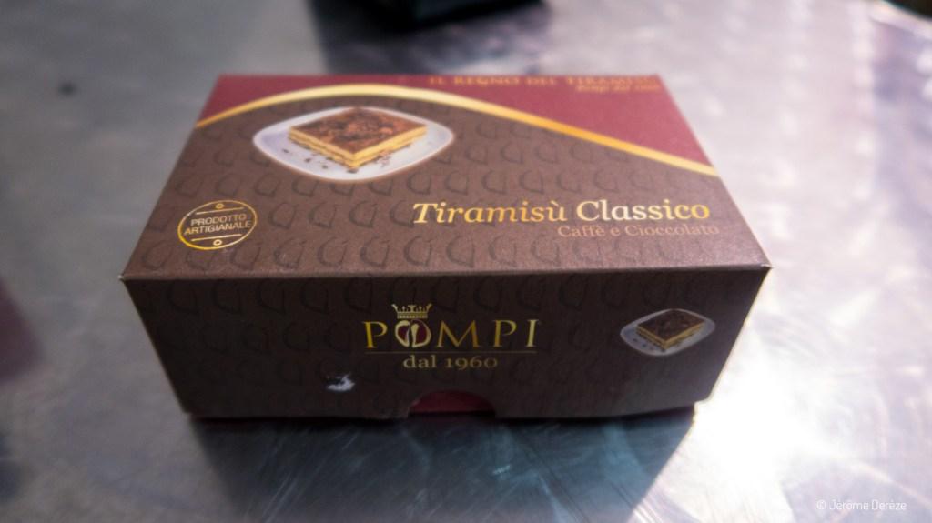Manger un dessert à rome - Tiramisu à Pompi