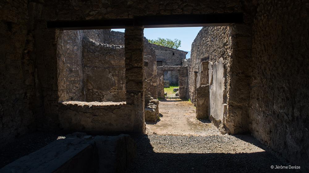 ruines des habitations de pompéi