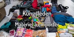 Matériel à emporter sur le Kungsleden