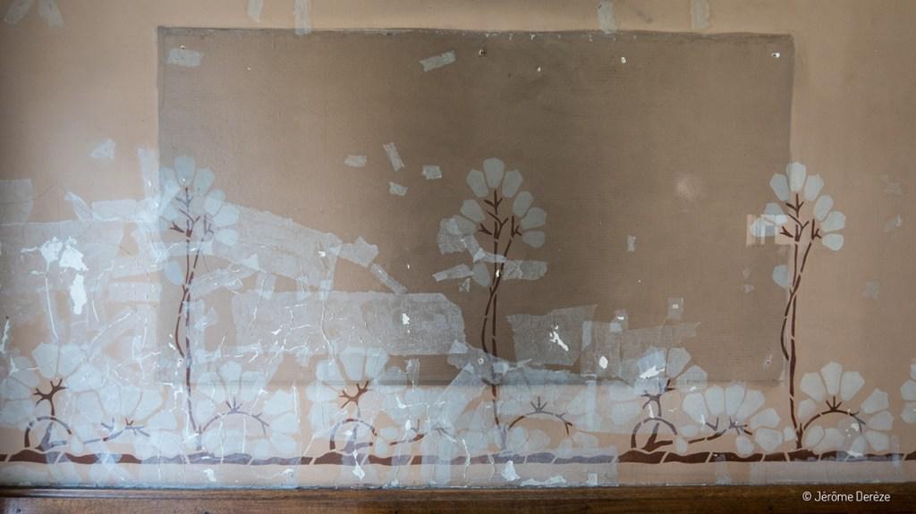 Rénovation de la Villa Majorelle - mur du vestibule
