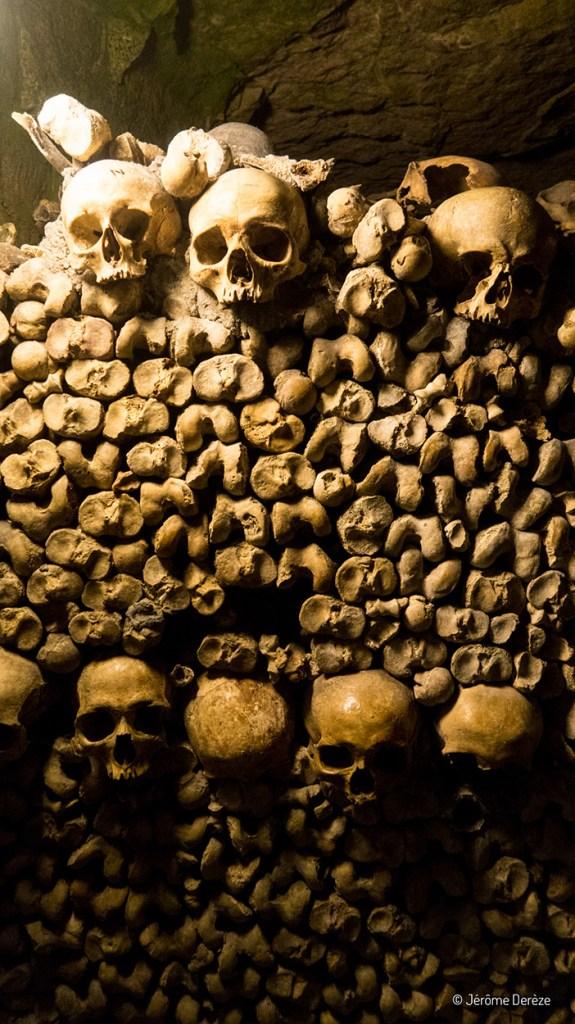 Ossements dans les catacombes