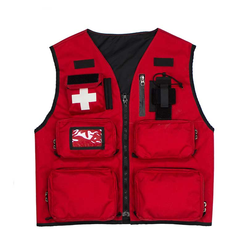 summit patrol vest red