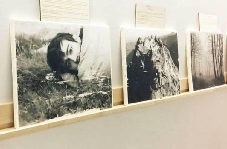 Exposición 'el espíritu que nace en estas montañas' en el café librería al Norte del Sur, Pamplona