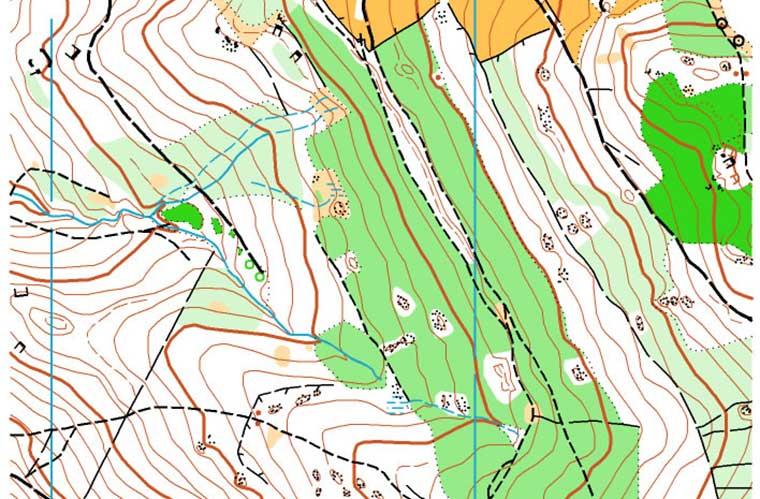 La representación en los mapas topográficos / Foto: Leinad  (vía wikimedia Commons)