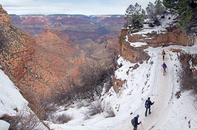 Trekking en invierno en Bright Angel Trail / Foto: Grand Canyon National Park (Flickr)