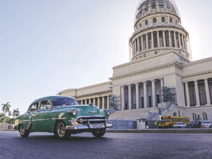 Classic Car in front of the Capitol in Havana