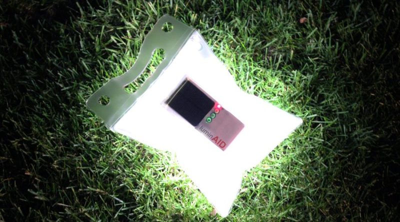 luminAID solar powered inflatable light