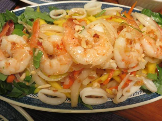 Mango Salad with Shrimp and Calamari