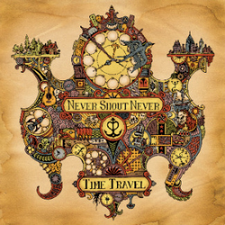 Never Shout Never 'Time Travel' Album Cover Artwork