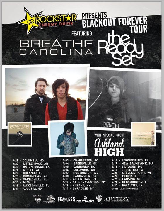 Breathe Carolina Announce Co-headlining Tour With The Ready Set