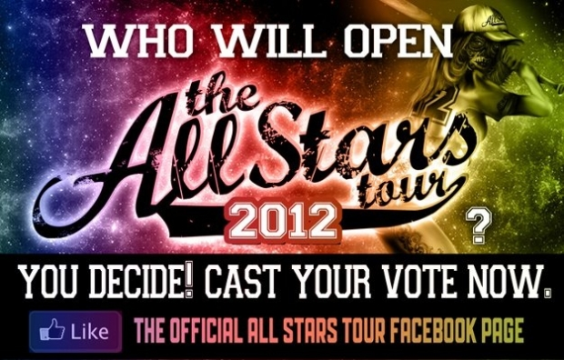 Vote For The Opening Band For The All Stars Tour
