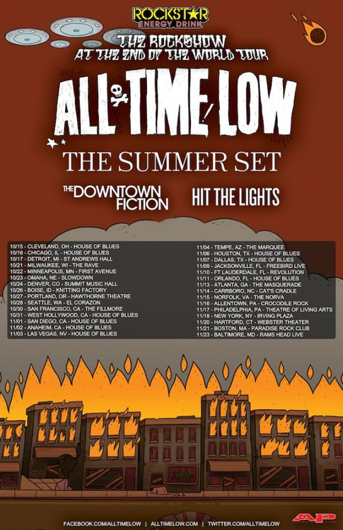 All Time Low Announce Fall Tour With The Summer Set, The Downtown Fiction And Hit The Lights
