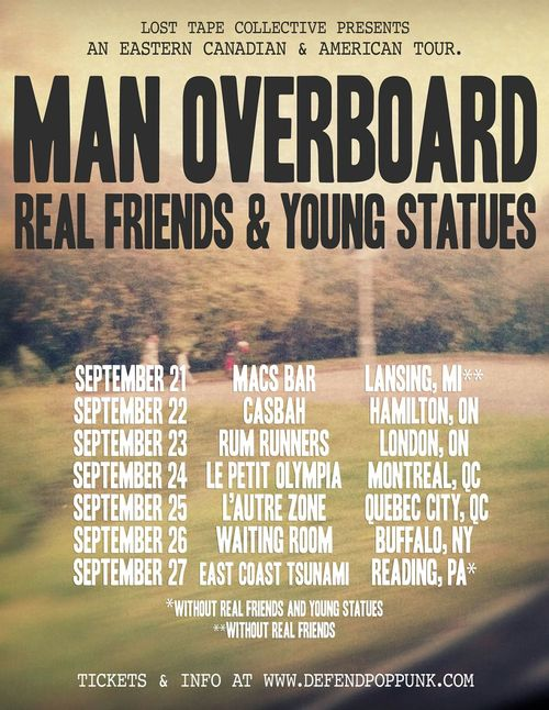 Man Overboard Announce Eastern Canadian & American Tour