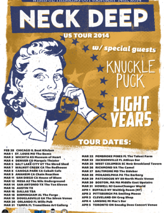 Neck Deep Stream New Song And Announce 2014 US Headlining Tour