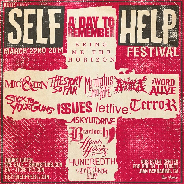 A Day To Remember Announce Self Help Fest