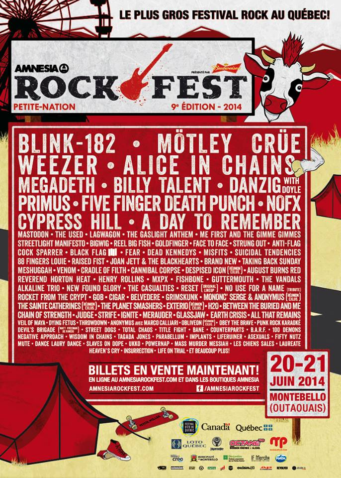 2014 PNR Amnesia Rockfest Reveals Lineup
