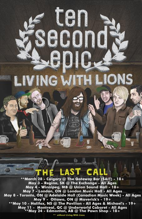 Living With Lions Announce Tour With Ten Second Epic