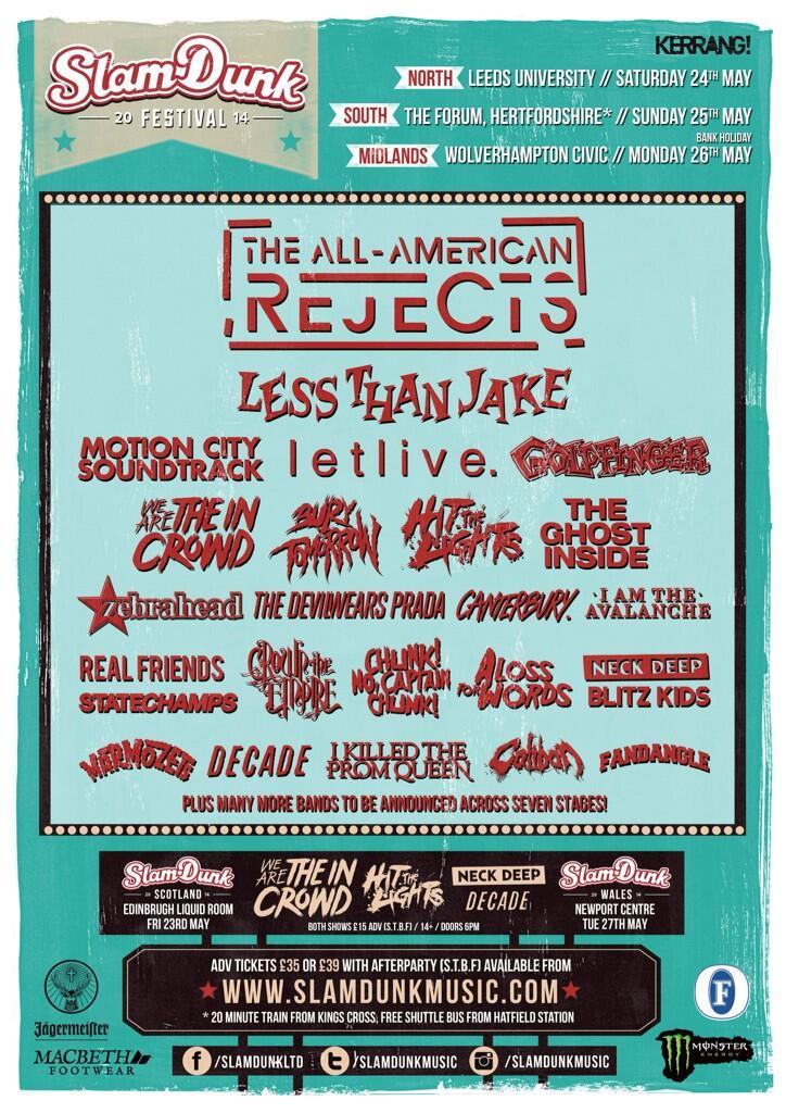 Slam Dunk Festival 2014