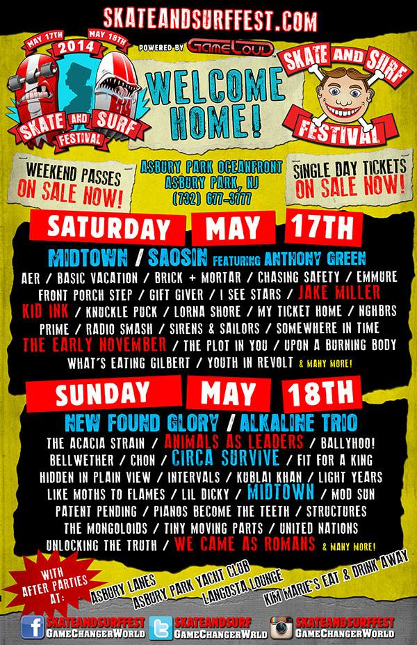 Alkaline Trio And New Found Glory Added To Skate And Surf Festival