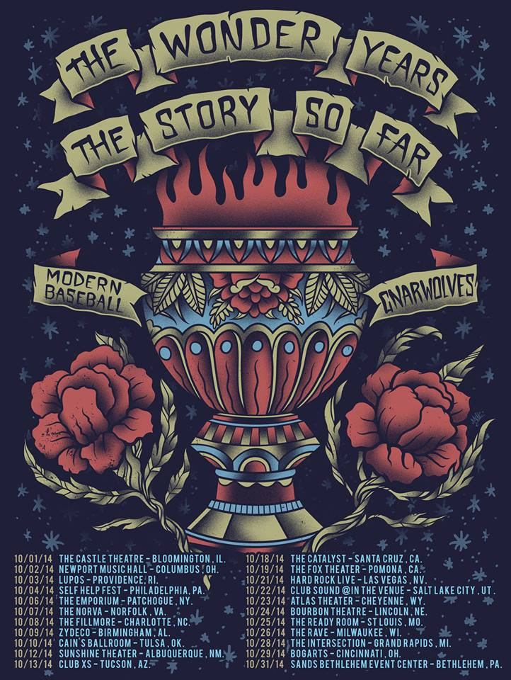 The Wonder Years Announce Fall Tour With The Story So Far, Modern Baseball And Gnarwolves