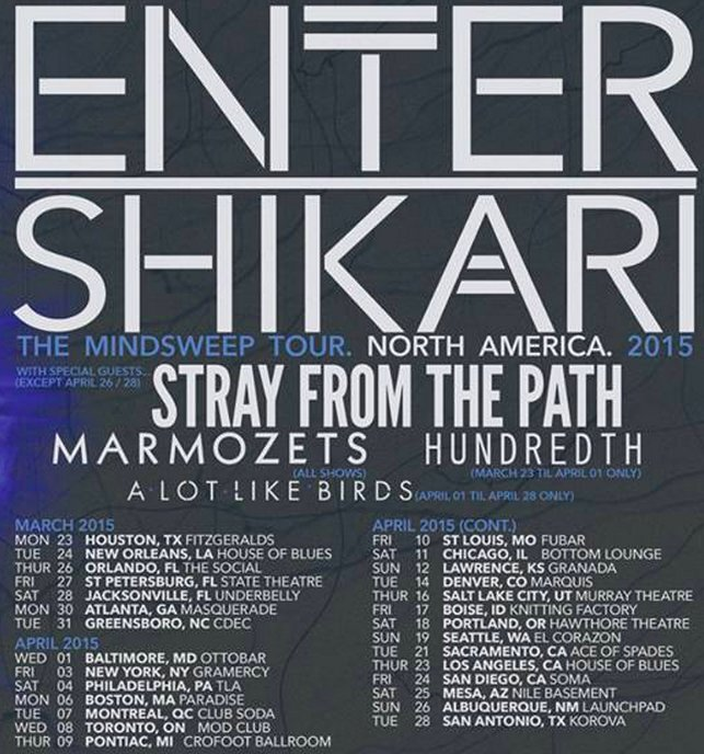 Enter Shikari Announce U.S. Tour With Stray From The Path, Hundredth