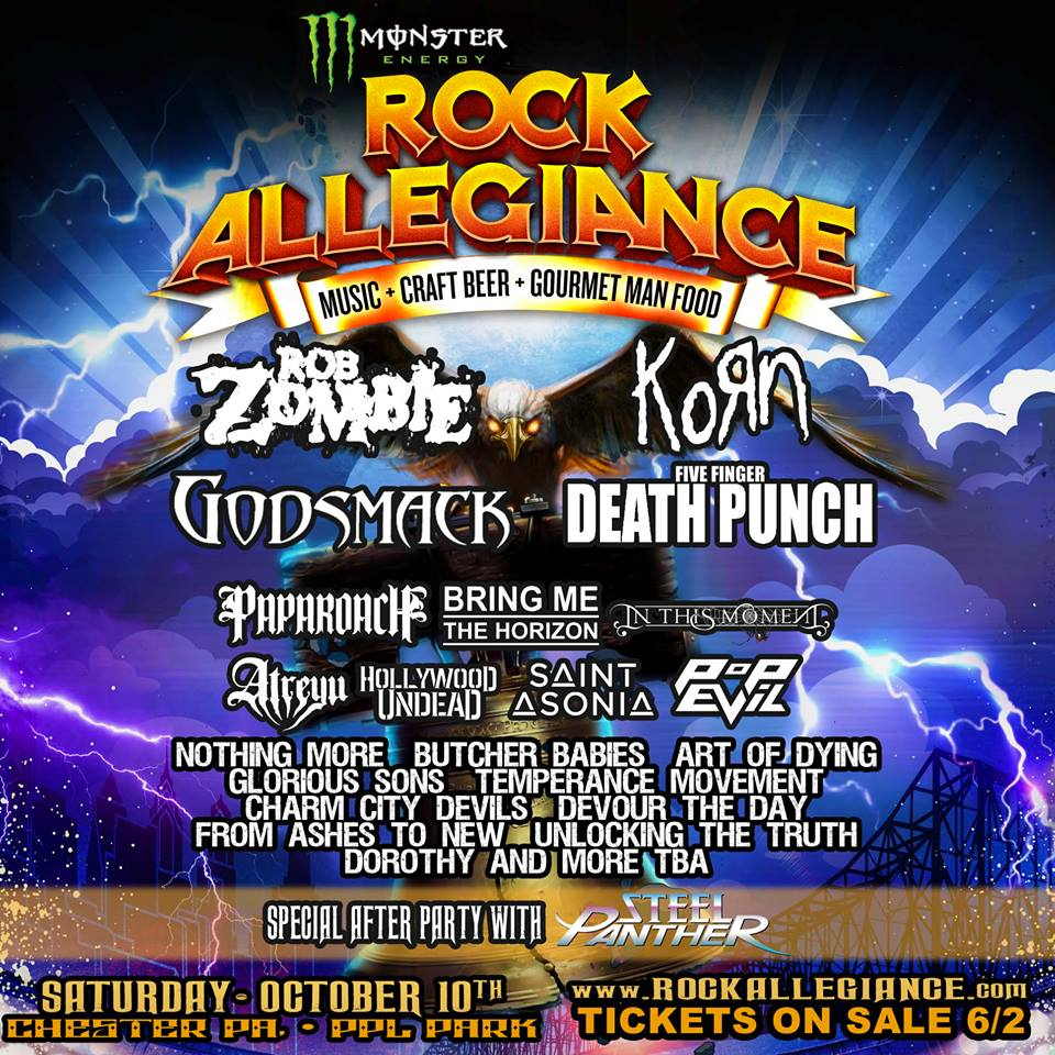 Rob Zombie, Korn, Godsmack Lead 2015 Monster Energy Rock Allegiance Festival