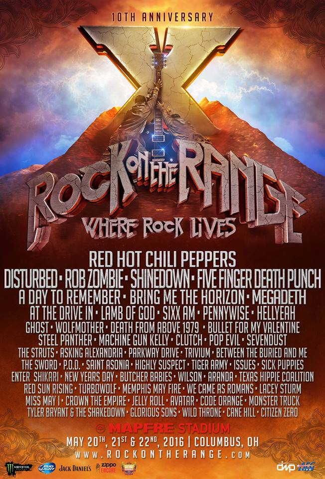 2016 Rock On The Range Festival Lineup
