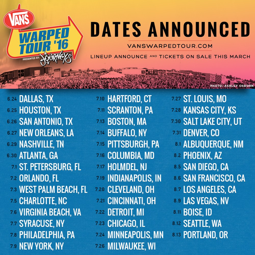 Which bands should play the Vans Warped Tour's final run ...