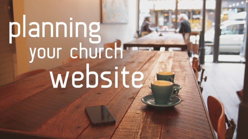 Planning your church website