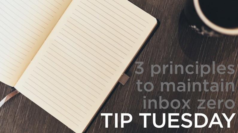 3 principles to maintain inbox zero