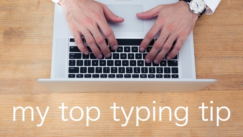 My top typing tip for pastors