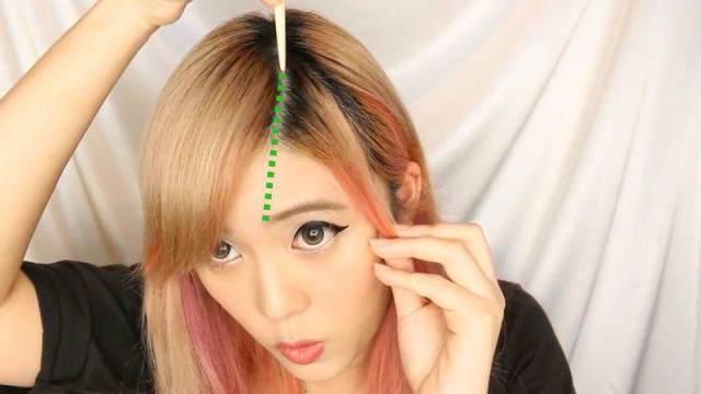 cara memotong poni samping 3 - Cara Memotong Poni Samping Ala Korea Di Rumah  Tanpa Perlu 6555c1b950