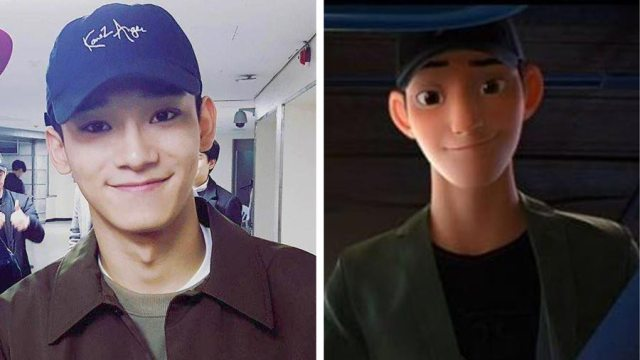 Chen – EXO mirip dengan Tadashi Big Hero 6 - Wow, Para Idol K-Pop ini Mirip Banget Dengan Karakter Anime