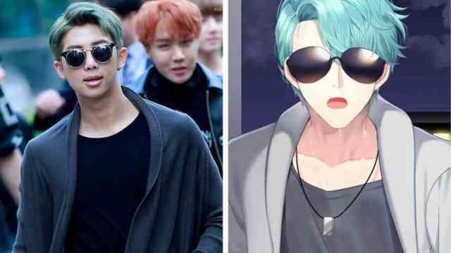 RM BTS mirip dengan v dari anime mystic messenger - Wow, Para Idol K-Pop ini Mirip Banget Dengan Karakter Anime