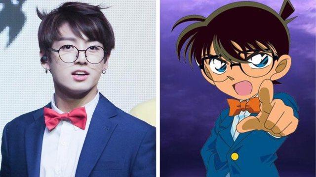 jungkook bts mirip dengan detektif conan - Wow, Para Idol K-Pop ini Mirip Banget Dengan Karakter Anime