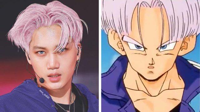 kai exo mirip dengan trunks dragon ball - Wow, Para Idol K-Pop ini Mirip Banget Dengan Karakter Anime