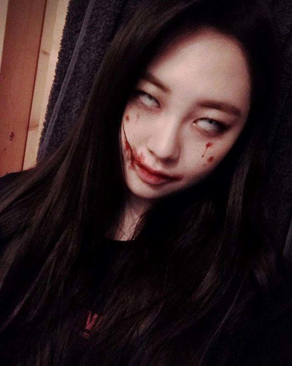 kstum hallowen idol kpop taeha 600x750 - Seram & Lucu! Deretan Kostum Halloween Idol KPop Terbaik dan Terbaru