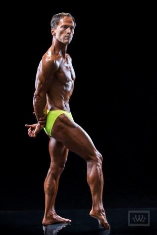 Bodybuilder Pose In Studio