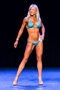 Bikini Bodybuilding Posing On Stage