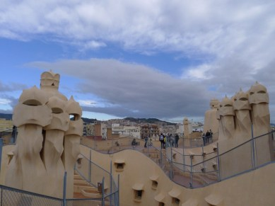 with extra surrealism of Barcelona's sky that morning.
