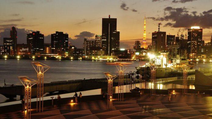 東京晴海碼頭夜景