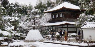 銀閣寺雪景