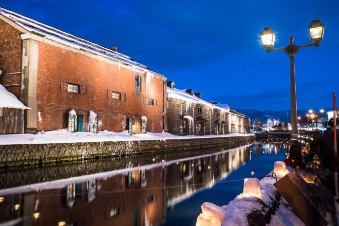 小樽運河 雪景