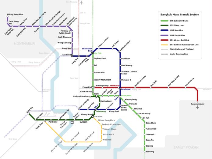 曼谷地鐵空鐵圖
